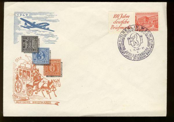 Berlin Zusammendruck W 13 auf Ersttagsbrief