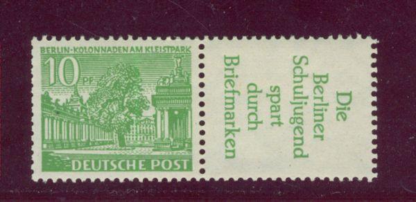 Berlin Zusammendruck W 21 **postfrisch Heftchenzähnung