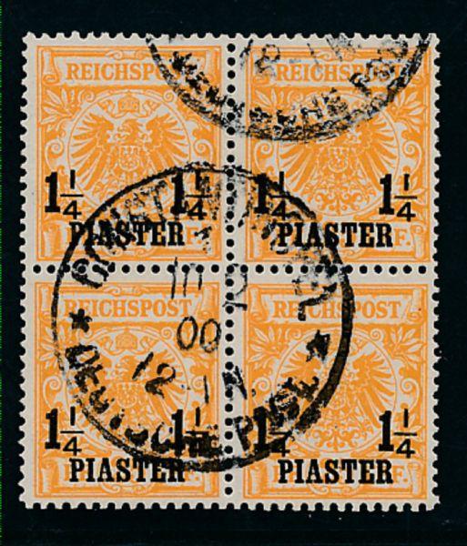 Deutsche Post Türkei Mi.Nr.9 b I gestemp.Lux Fotob.BPP