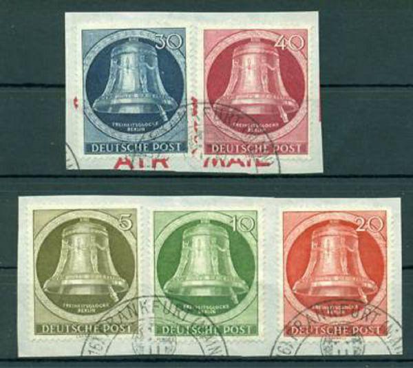 Berlin Mi. Nr. 82-86 gestempelt