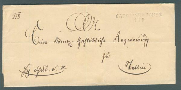Carolinenhorst Pommern Vorphila-/Altbeleg