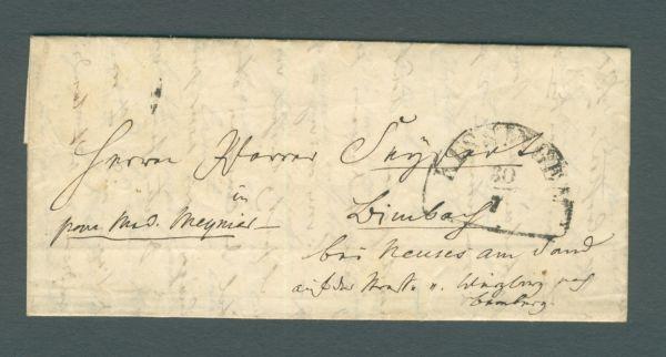 Kissingen mit Inhalt 1852 Vorphila-/Altbeleg