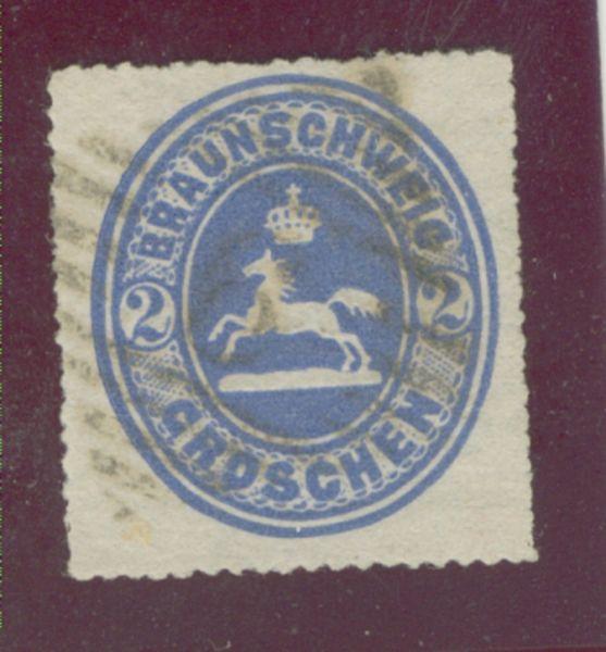 Braunschweig Mi.Nr. 19 gestempelt geprüft