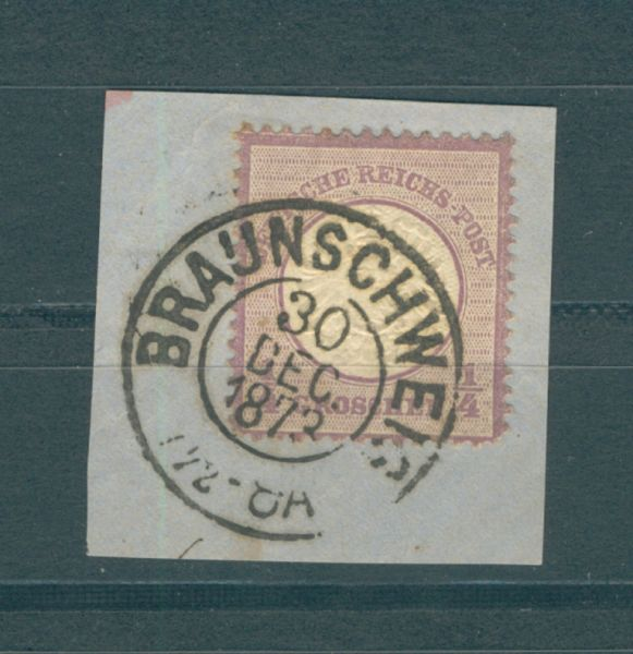 Deutsches Reich Braunschweig auf 1/4 Groschen Brustsch