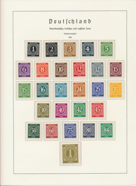 Deutschland nach 1945 Postfrische Zonen - Sammlung