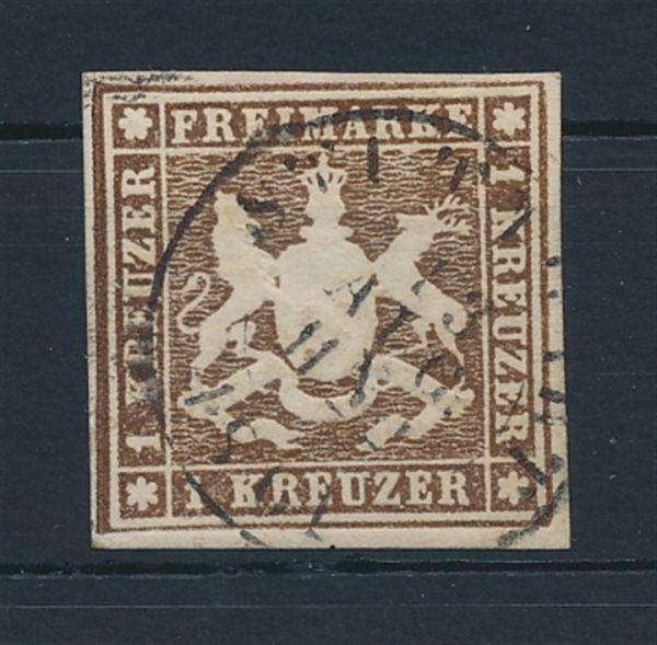 Württemberg Mi.Nr.11 b gestempelt Luxus Fotoattest BPP
