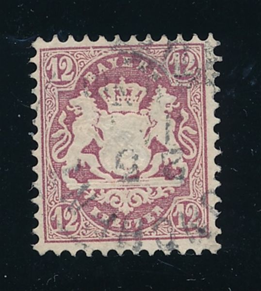 Bayern Mi.Nr.26 X gestempelt Luxus Fotoattest BPP