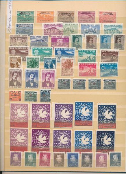 Albanien ca.1946-1960 Meist ** postfrische Sammlung