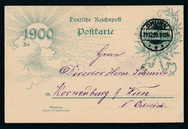 Dhünn Stempel auf Ganzsache Deutsches Reich 31.12.99