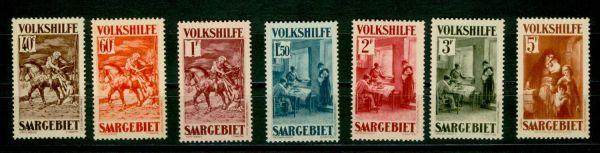 Saar Mi.Nr. 151-57 ** postfrisch