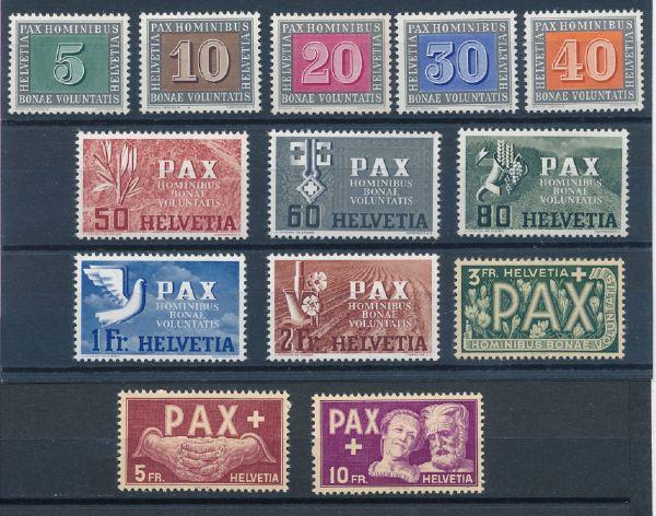 Schweiz Mi.Nr.447-59 ** postfrisch Fotoattest