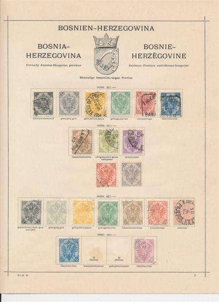 Bosnien und Herzegowina 1879-1918 fast komplett