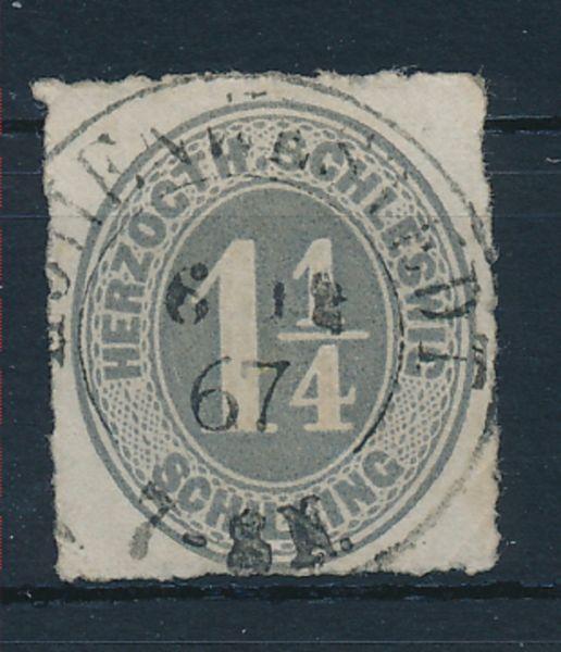 Schleswig Holstein Mi.Nr.18c gestempelt Lux Fotobefund