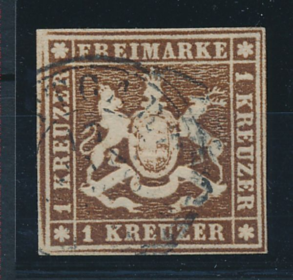 Württemberg Mi.Nr.6 d gestempelt Luxus Fotoattest BPP