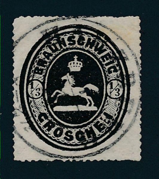 Braunschweig Mi.Nr.17 gestempelt geprüft