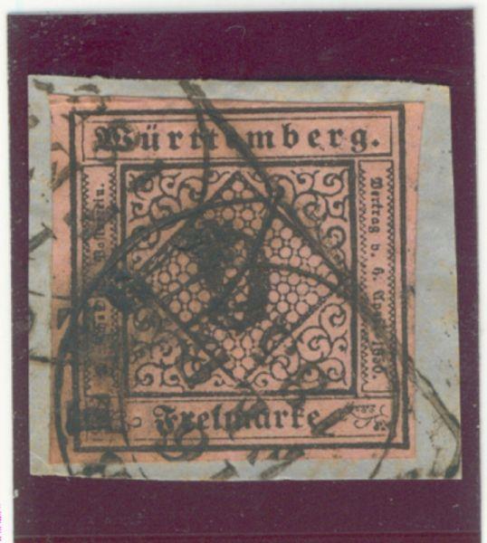 Württemberg Mi.Nr. 4 b gestempelt geprüft BPP