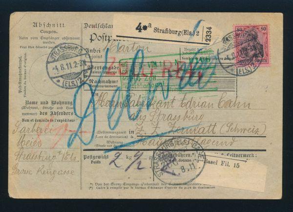 Germania Paketkarte nach Zermatt Schweiz