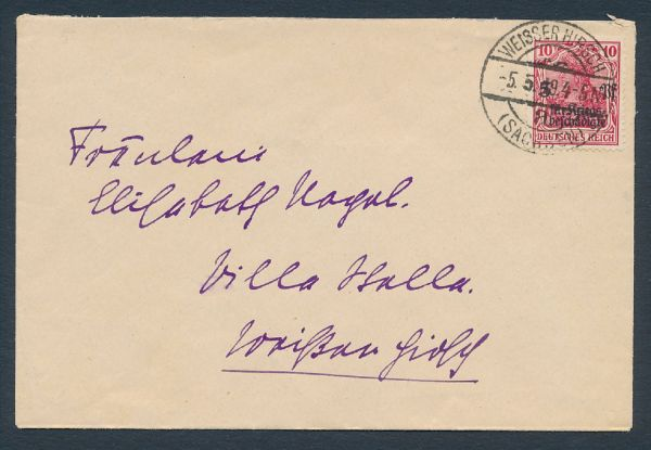 Deutsches Reich Mi.Nr.105a Ortsbrief portogerecht gepr