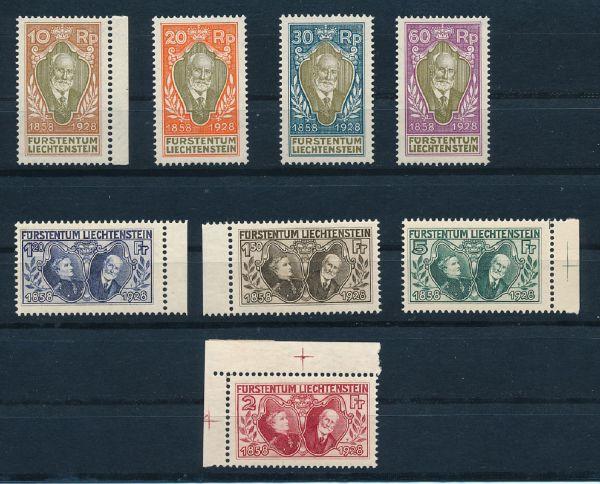 Liechtenstein Mi.Nr.82-89 ** Luxus Fotoattest BPP