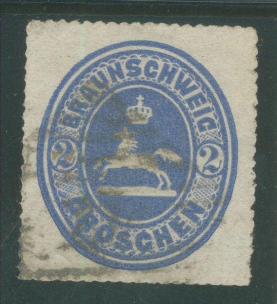 Braunschweig Mi.Nr.19 gestempelt NS 27 Fotobefund