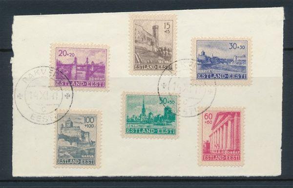 Estland Mi.Nr.4-9 gestempelt auf Briefstück