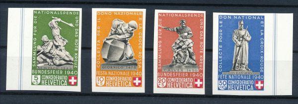 Schweiz Mi.Nr.369-72 ** postfrisch Fotoattest