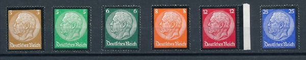 Deutsches Reich Mi.Nr.548-53 ** postfrisch