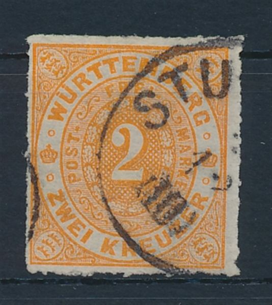 Württemberg Mi.Nr.37 b gestempelt Lux Fotobefund BPP
