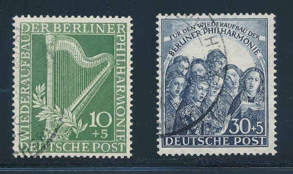 Berlin Mi.Nr.72-73 gestempelt