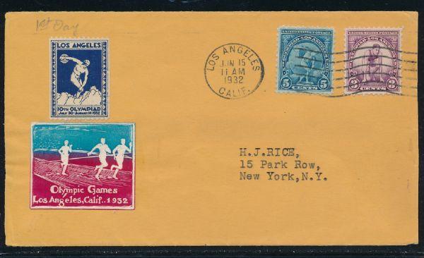 USA Mi.Nr.348 und 349 auf Ersttagsbrief