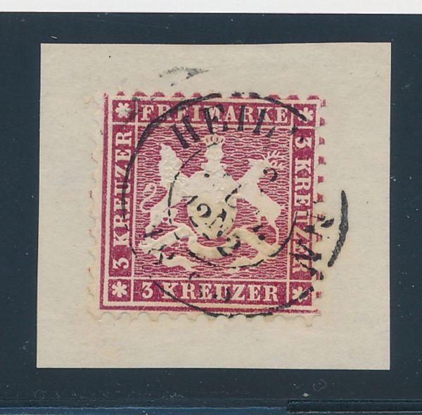 Württemberg Mi.Nr.26 d gestempelt Luxus Fotobefund BPP