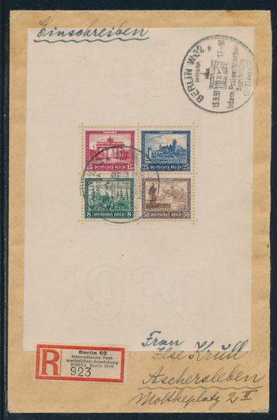 Deutsches Reich Block 1 Brief auf Luxus Fotoattest BPP