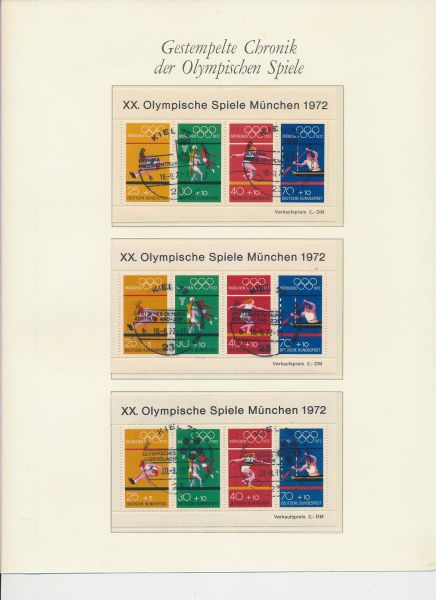 Olympiade München 1972 Boreksammlung