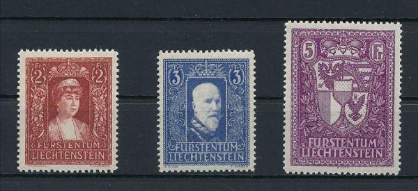 Liechtenstein Mi.Nr.140-42 ** Luxus Fotoattest BPP