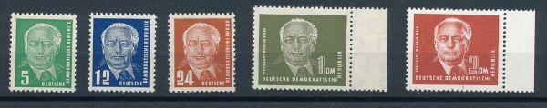 DDR Mi.Nr. 322-26 ** postfrisch