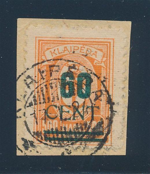 Memel Mi.Nr. 237 I PF II gestempelt Lux Fotoattest BPP