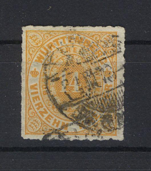 Württemberg Mi.Nr.41c gestempelt geprüft