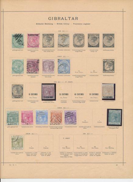 Gibraltar Alte gestempelte und ungebrauchte Sammlung