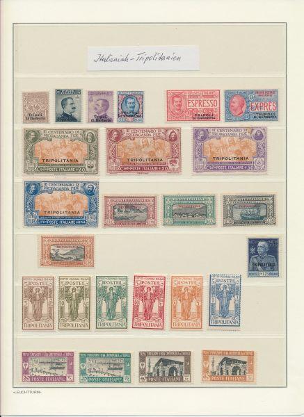 Italienisch Tripolitanien Meist ungebrauchte Sammlung