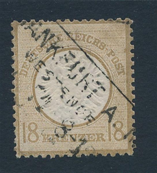 Deutsches Reich Mi.Nr.28 gestempelt einwandfrei FA BPP