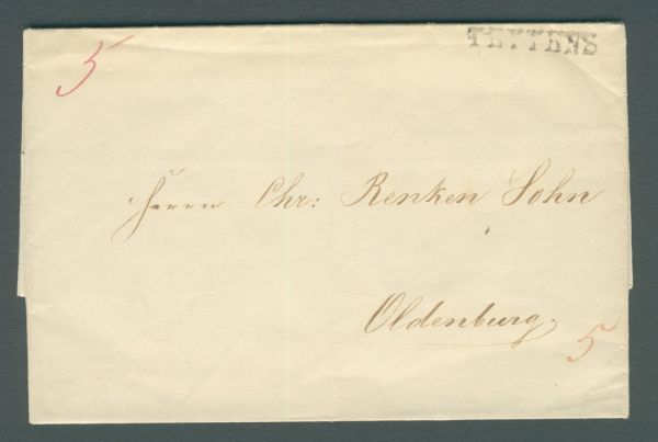 Vorphila-/Altbeleg mit Inhalt 1841
