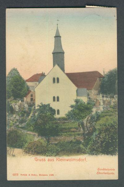 Kleinwolmsdorf Interessante Ansichtskarte