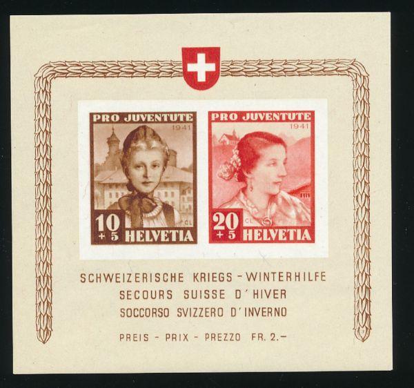 Schweiz Block 6 ** postfrisch Fotobefund