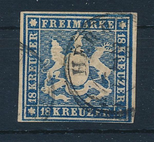 Württemberg Mi.Nr.15 gestempelt Luxus Fotoattest BPP