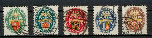 Deutsches Reich Mi.Nr.430-34 gestempelt geprüft