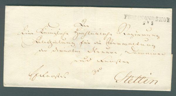 Ferdinandshof Pommern Vorphila-/Altbeleg