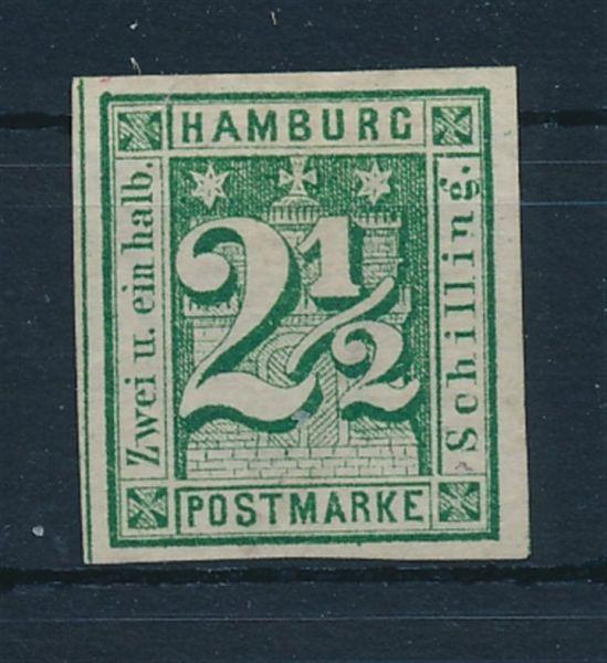 Hamburg Mi.Nr.9 (*) Luxus Fotobefund Lange BPP
