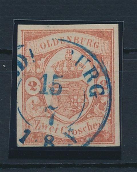 Oldenburg Mi.Nr.13 gestempelt Luxus Fotoattest Brettl