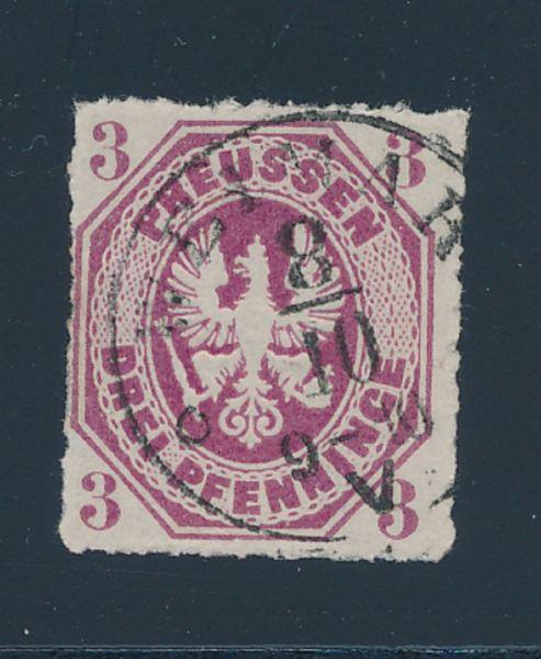 Preussen Mi.Nr.19 b gestempelt Luxus Fotobefund BPP