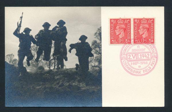 Tschechische Feldpost Beleg mit englischer Frankatur